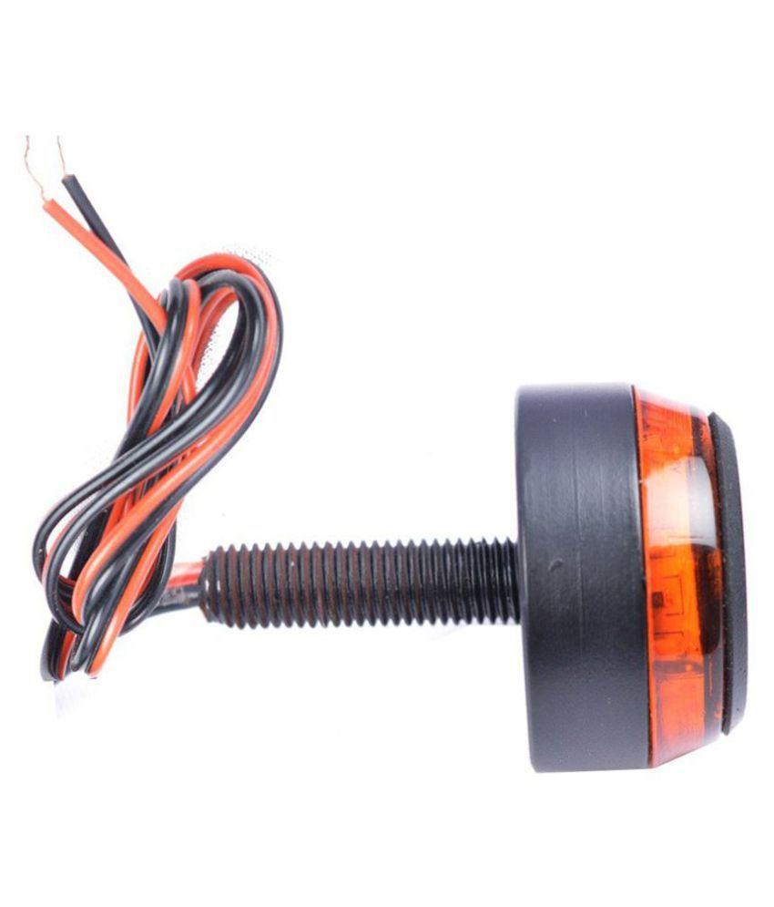 Motorcycle Handlebar Turn Signal Grip Bar End LED Plug Strobe Side ...
