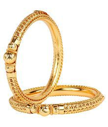 Ds Gold Plated Every Ocassion Designer Bangle Set for Women(Ds236)