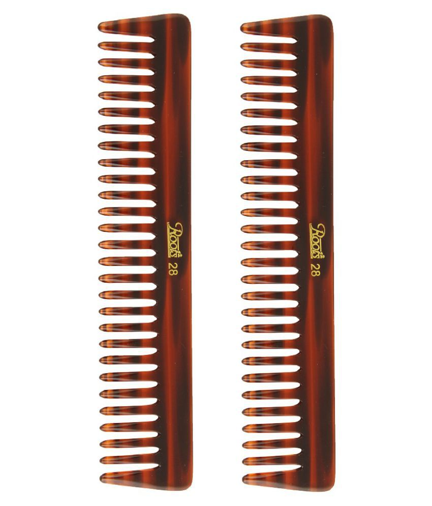Roots Wide tooth Comb Pack of 2