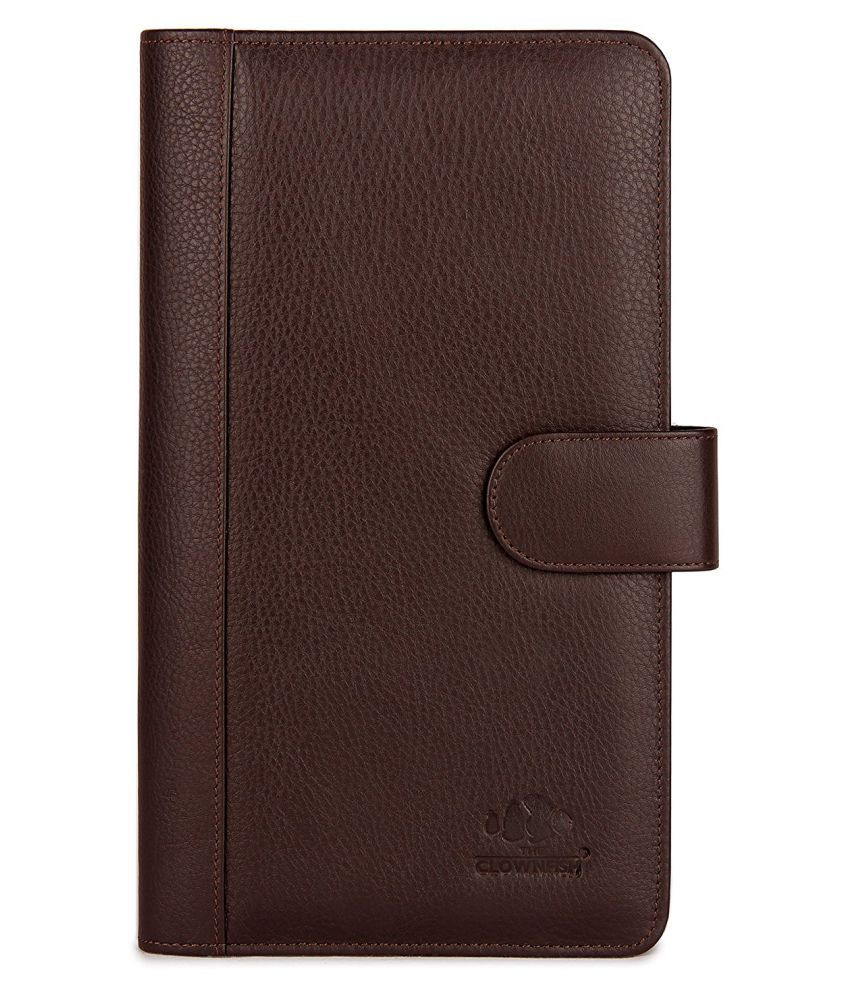 51a881f36c9 The Clownfish Leather Brown Passport Holder - Buy The Clownfish Leather  Brown Passport Holder Online at Low Price - Snapdeal