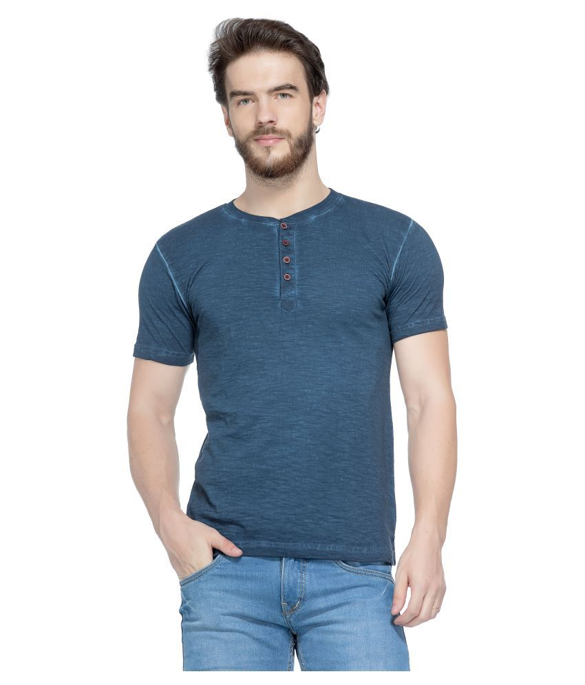 Tinted Blue Henley T-Shirt