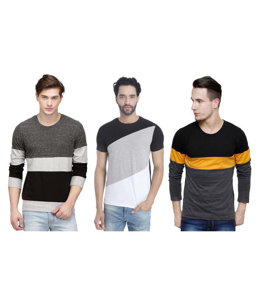 Blue Ocean Multi Round T-Shirt Pack of 3