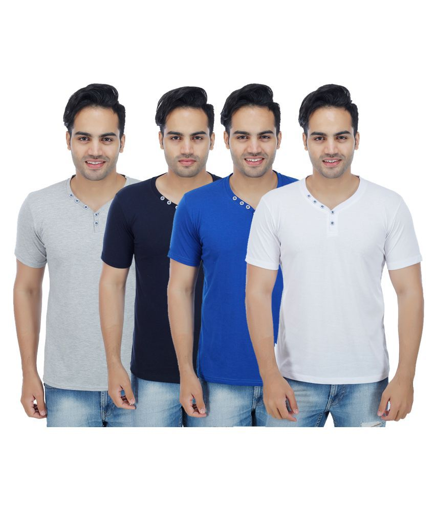 Candy House Multi Henley T-Shirt Pack of 4