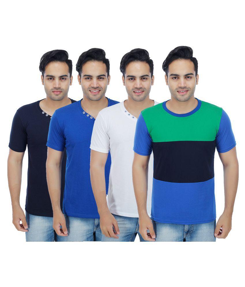 Christy World Multi Round T-Shirt Pack of 4