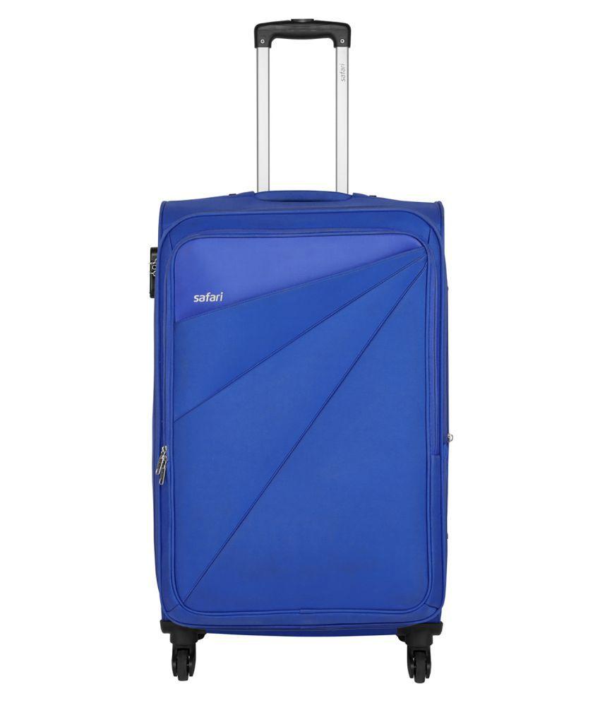 Safari Blue S (Below 60cm) Check-in Soft Mimik 4w Luggage Bag Luggage