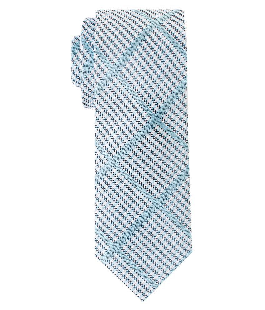 The Tie Hub Blue Checks Silk Necktie