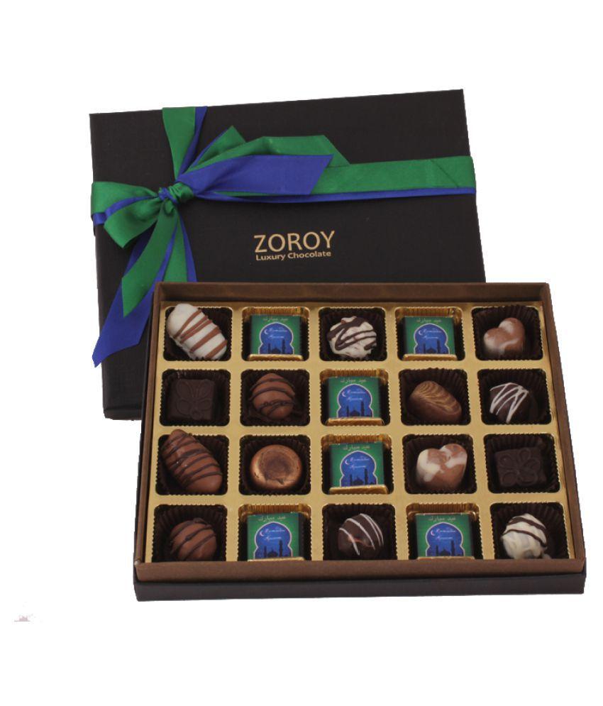ZOROY LUXURY CHOCOLATE Assorted Box Ramzan 20 assorted chocolates and dates 1000 gm