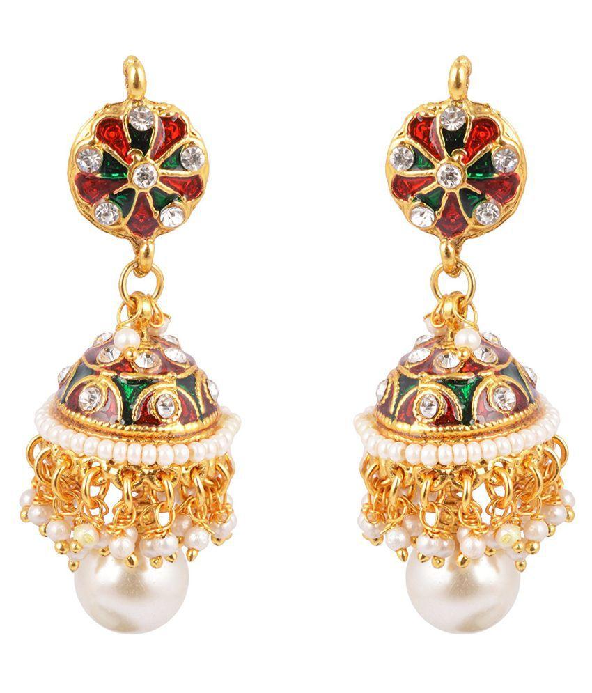 Antique Multicolor Meenakari Jhumki or Earrings for Women