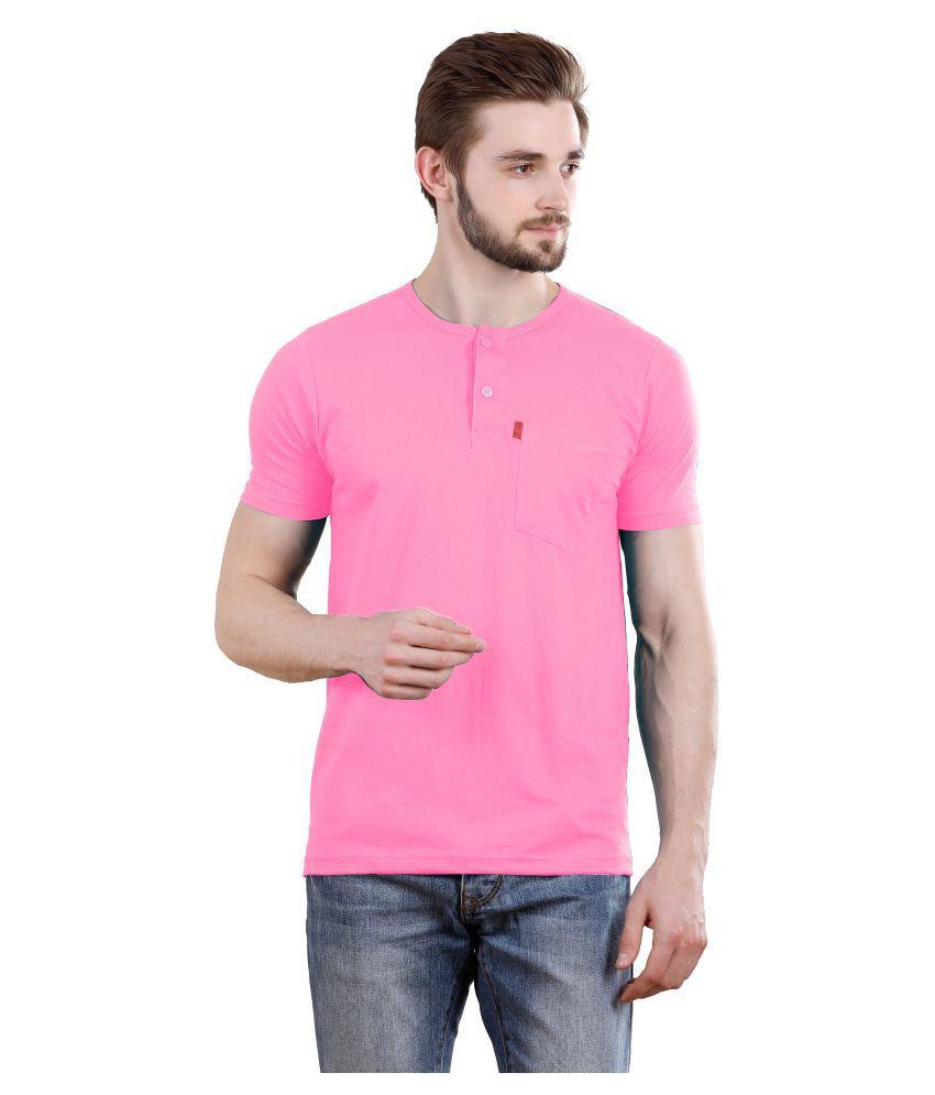 Spur Pink Henley T-Shirt