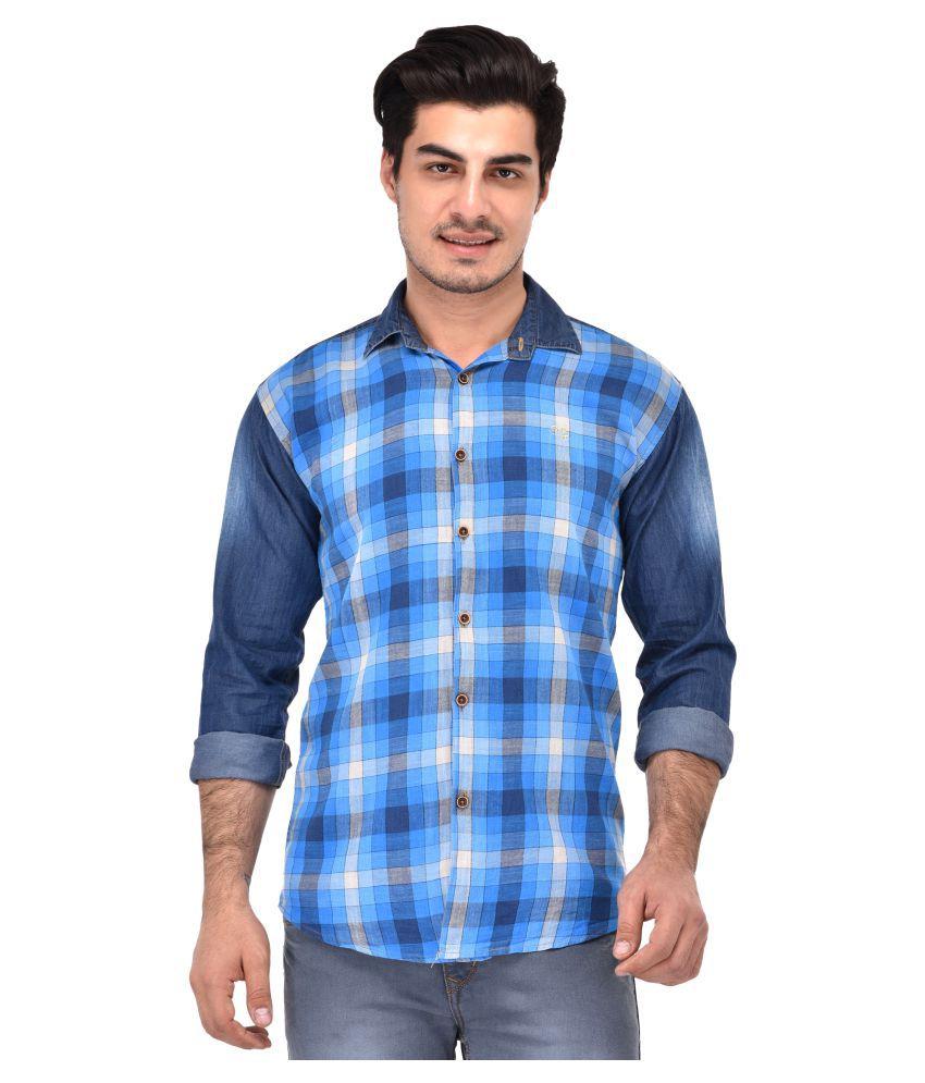 Lafantar Multi Casual Slim Fit Shirt