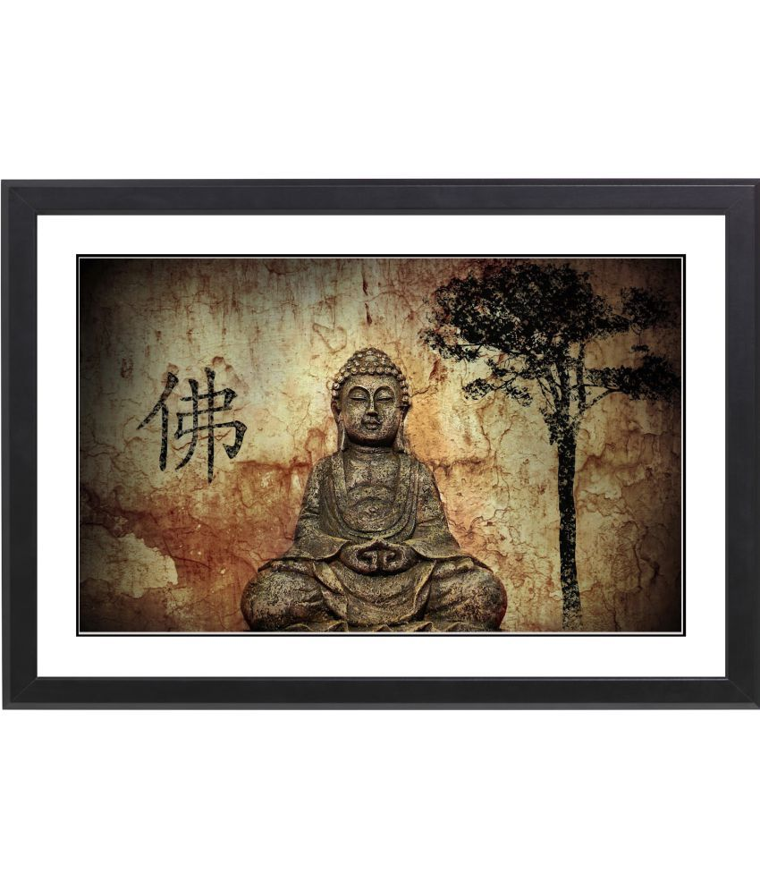 CRAFTSFEST VAASTU BUDHA  MDF Painting With Frame