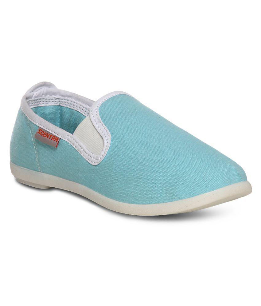 Scentra Turquoise Casual Shoes