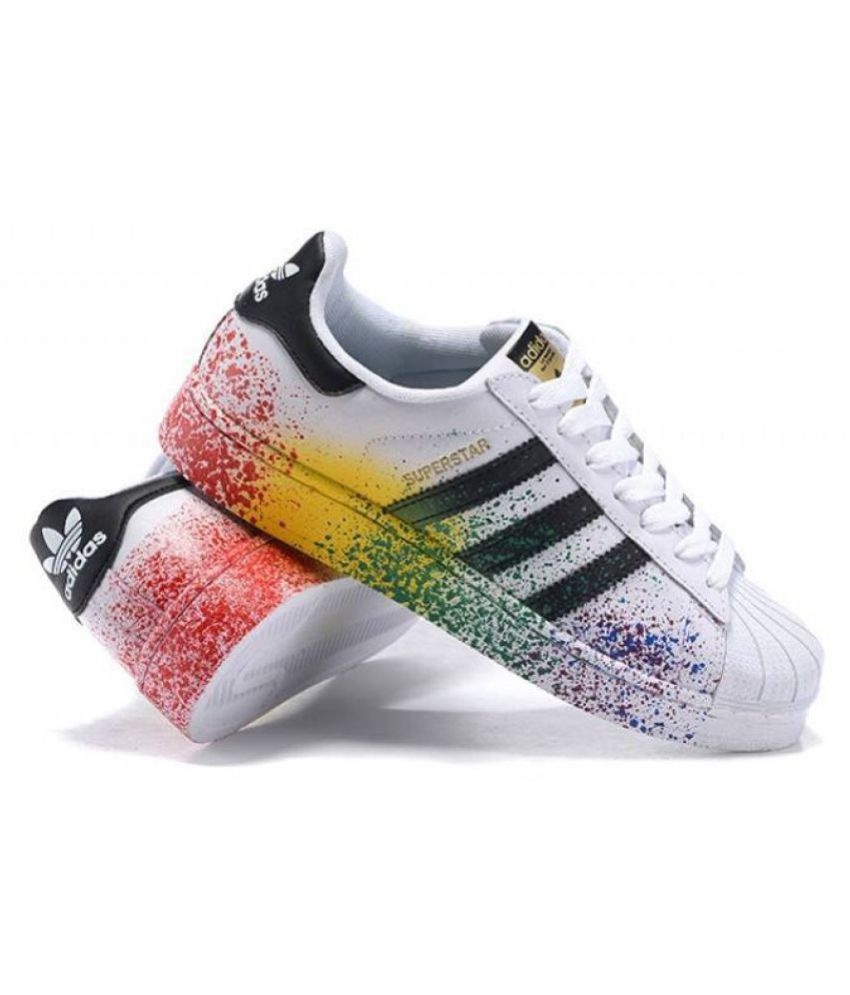 Cheap Adidas Superstar 80s PK Black Multicolor S75844 Mens Sizes 10.5
