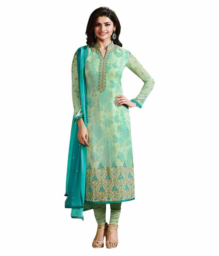 be4d6a27f5c A And V Fashion Green Georgette Straight Semi-Stitched Suit - Buy A And V  Fashion Green Georgette Straight Semi-Stitched Suit Online at Best Prices  in India ...