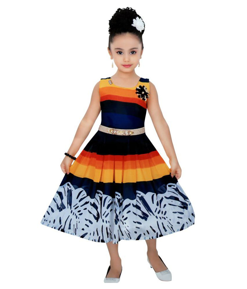 41fcee1c3 Cute Fashion Kids Girls Dress for Princess Sifone Party Wear Frock ...