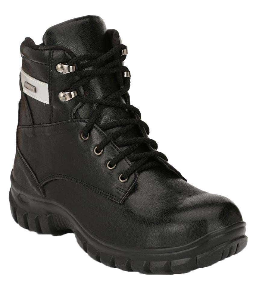 3c16ad68d3ede Buy Kavacha High Ankle Black Safety Shoes Online at Low Price in India -  Snapdeal