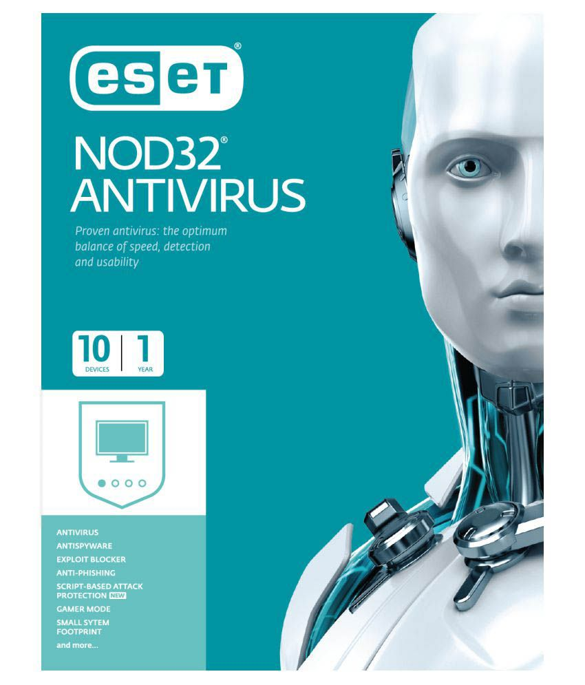 Eset Antivirus 2017 ( 10 PC / 1 Year ) - CD