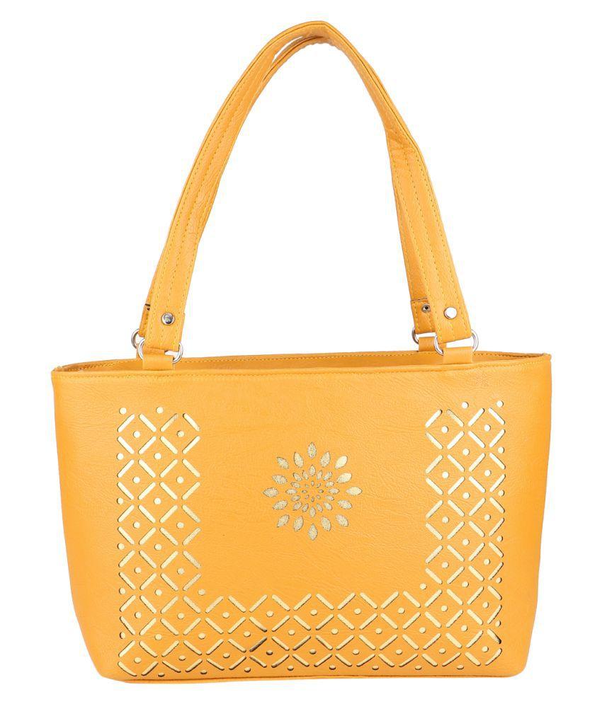 Ultimate Fashion Golden P.U. Shoulder Bag