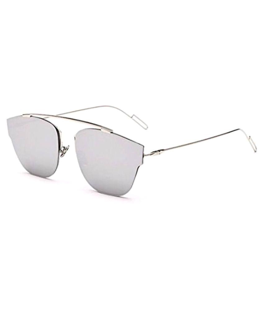 7a9756b132 Dior Silver Aviator Brow-Bar Sunglasses ( D3025 ) - Buy Dior Silver Aviator  Brow-Bar Sunglasses ( D3025 ) Online at Low Price - Snapdeal