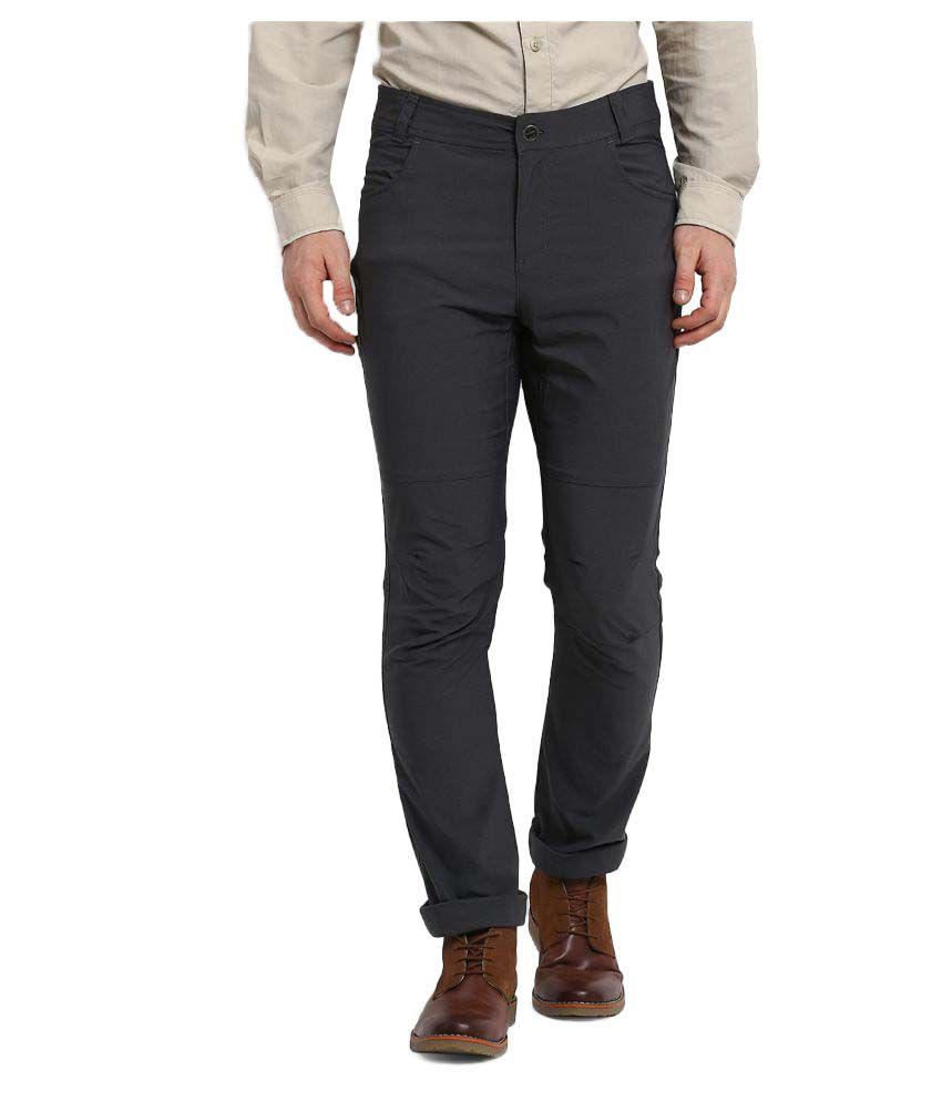 Columbia Grey Slim -Fit Flat Trousers