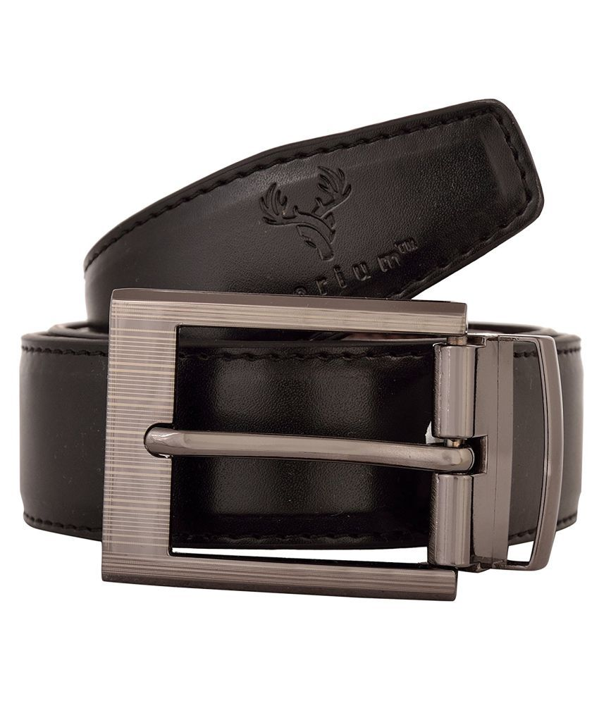 Corium Black Leather Formal Belts