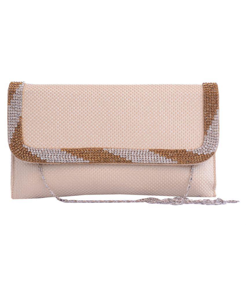 Charu Boutique Beige Faux Leather Sling Bag