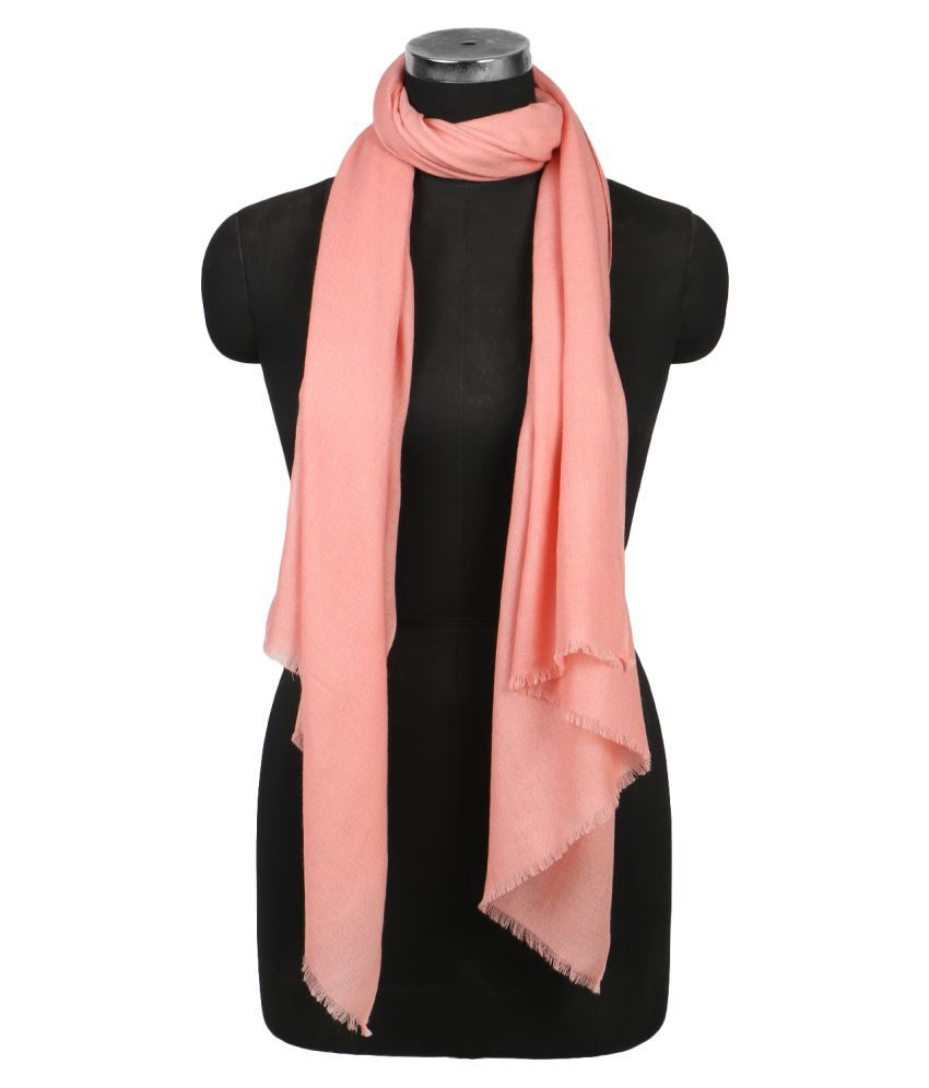 shawls of india peachpuff solid woolen stoles buy