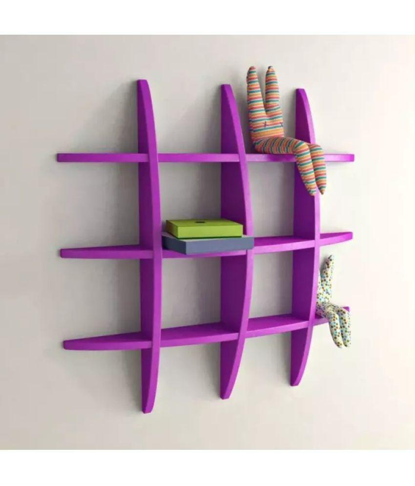 Onlineshoppee Floating Shelf/ Wall Shelf / Storage Shelf/ Decoration Shelf Purple - Pack of 1