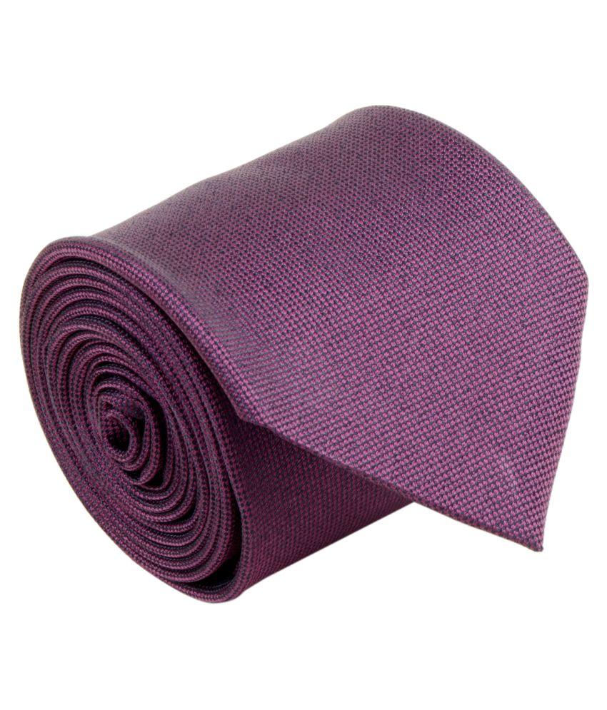 Cazzano Purple Plain Micro Fiber Necktie