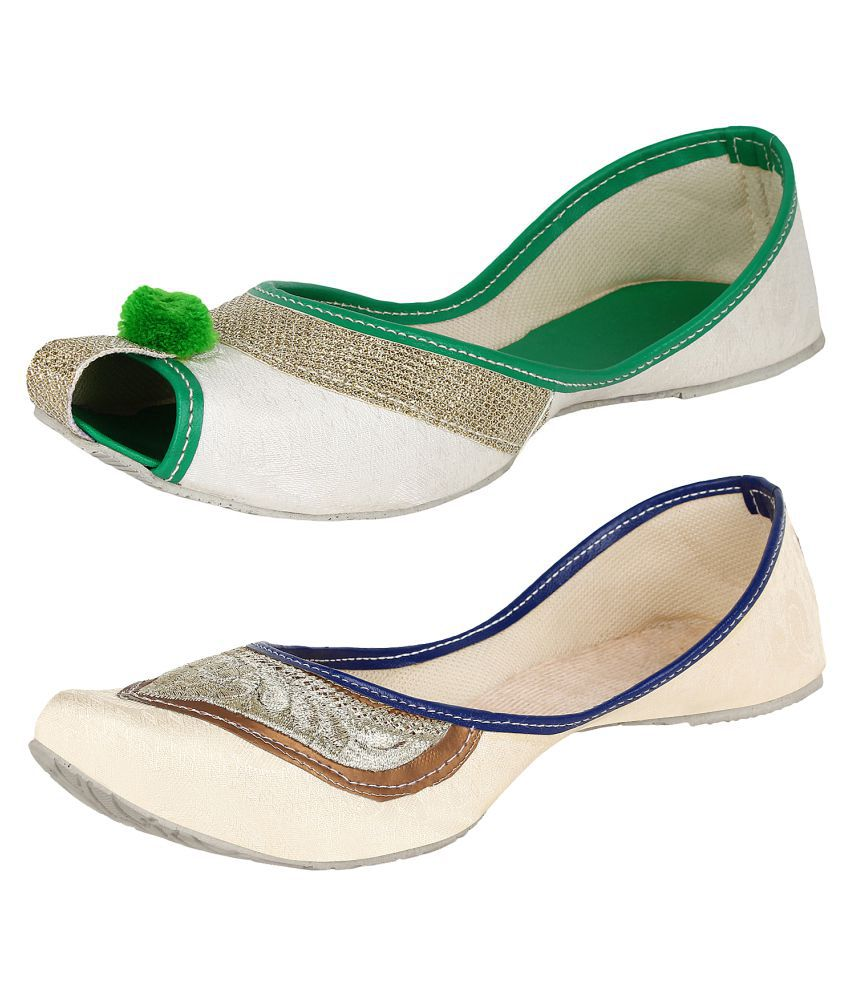 Sassily Multi Color Flat Ethnic Footwear