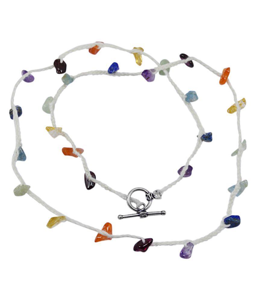 Silvesto India Multi Gemstone Necklace PG-129921