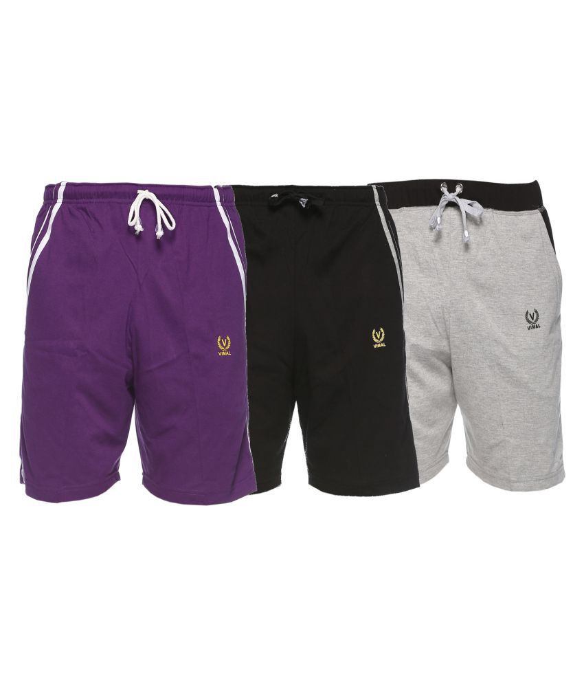 Vimal Jonney Multi Shorts Pack Of 3