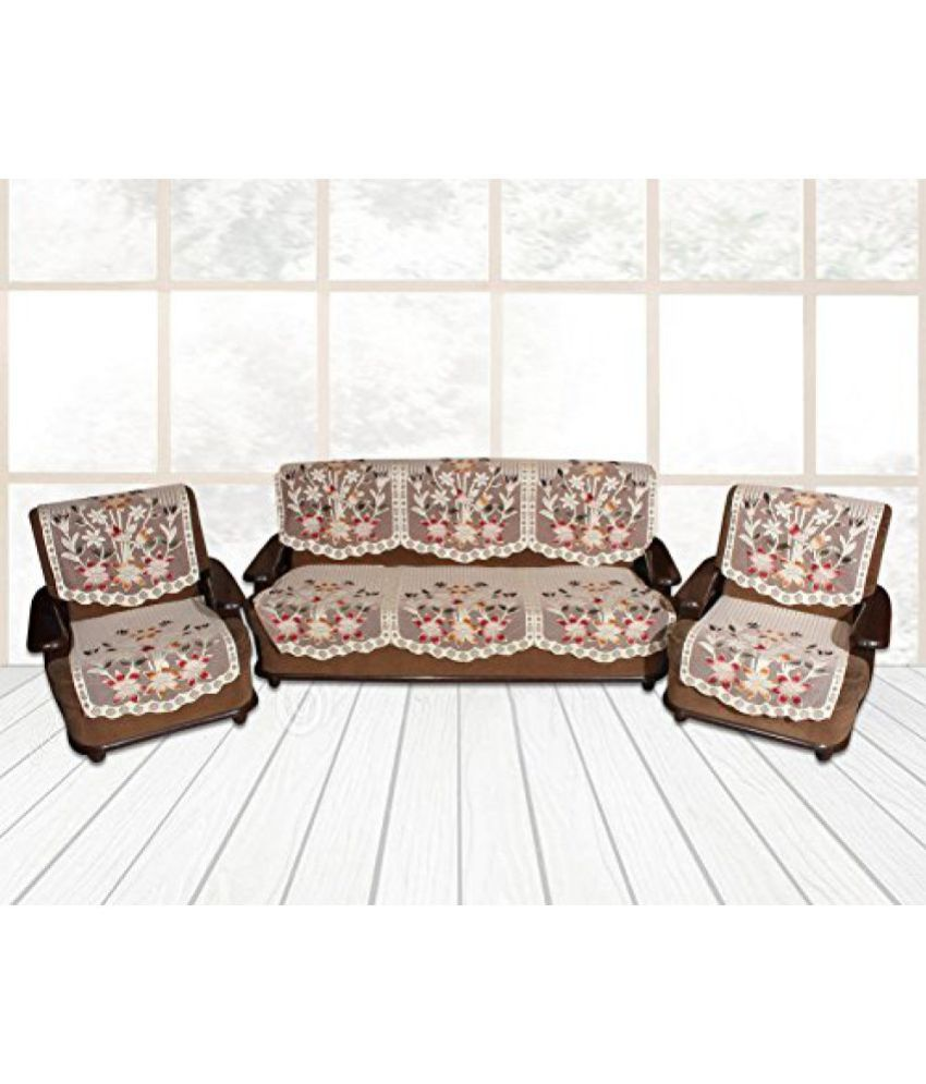 eagleshine 5 seater cotton set of 6 sofa cover set buy