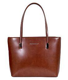 Lino Perros Brown Faux Leather Shoulder Bag - 5764608152443209636