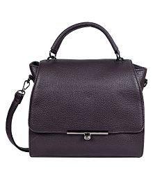 Lino Perros Brown Faux Leather Shoulder Bag - 5764608152923268241
