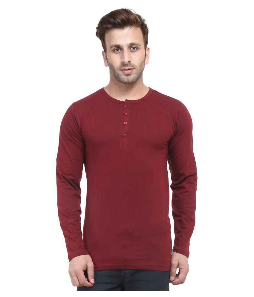 Acomharc Inc Maroon Henley T-Shirt