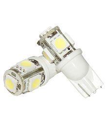 2 X Super Bright 12-24v Chipsets 5 SMD Backup Reverse Front Light Bulbs,Parking Lights LED Parking Indicator Socket Light (White, 12V)