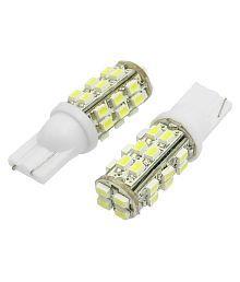 2 X Super Bright 12-24v Chipsets 28 SMD Backup Reverse Front Light Bulbs,Parking Lights LED Parking Indicator Socket Light (White, 12V)
