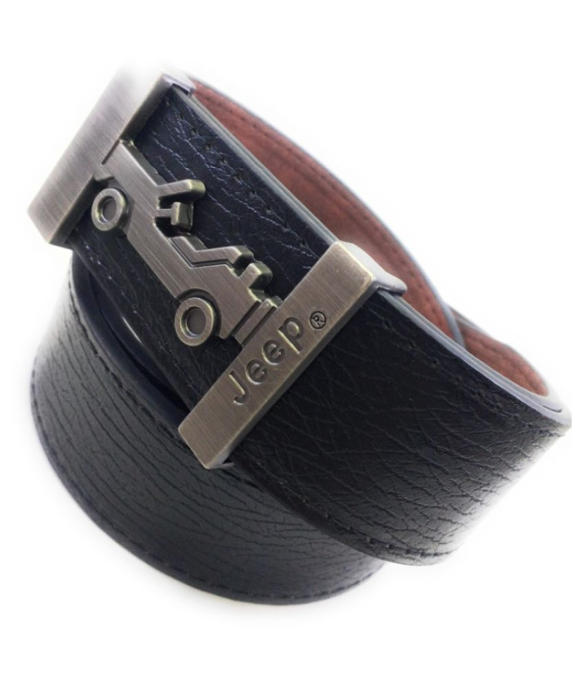 Only1 Black PU Casual Belts