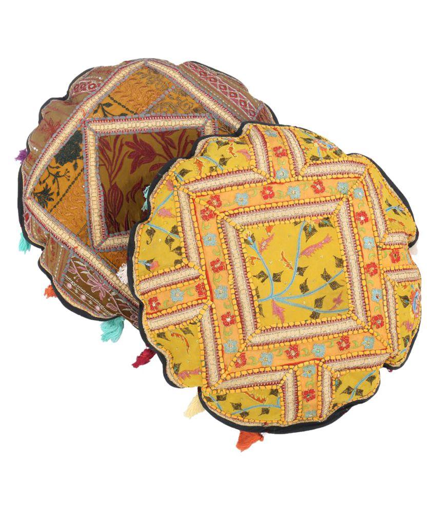 Rajrang Set of 2 Cotton Cushion Covers 45X45 cm (18X18)