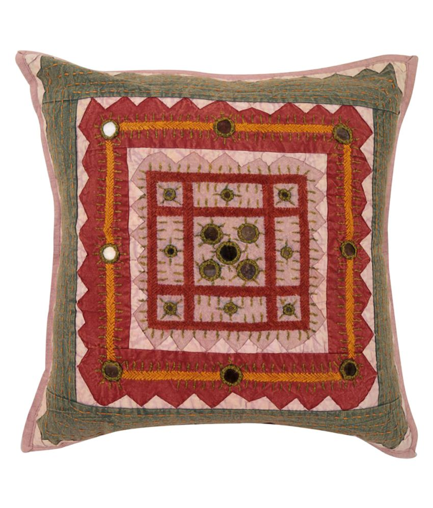 Rajrang Single Cotton Cushion Covers 40X40 cm (16X16)