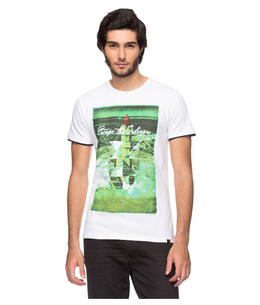 YOO White Round T-Shirt