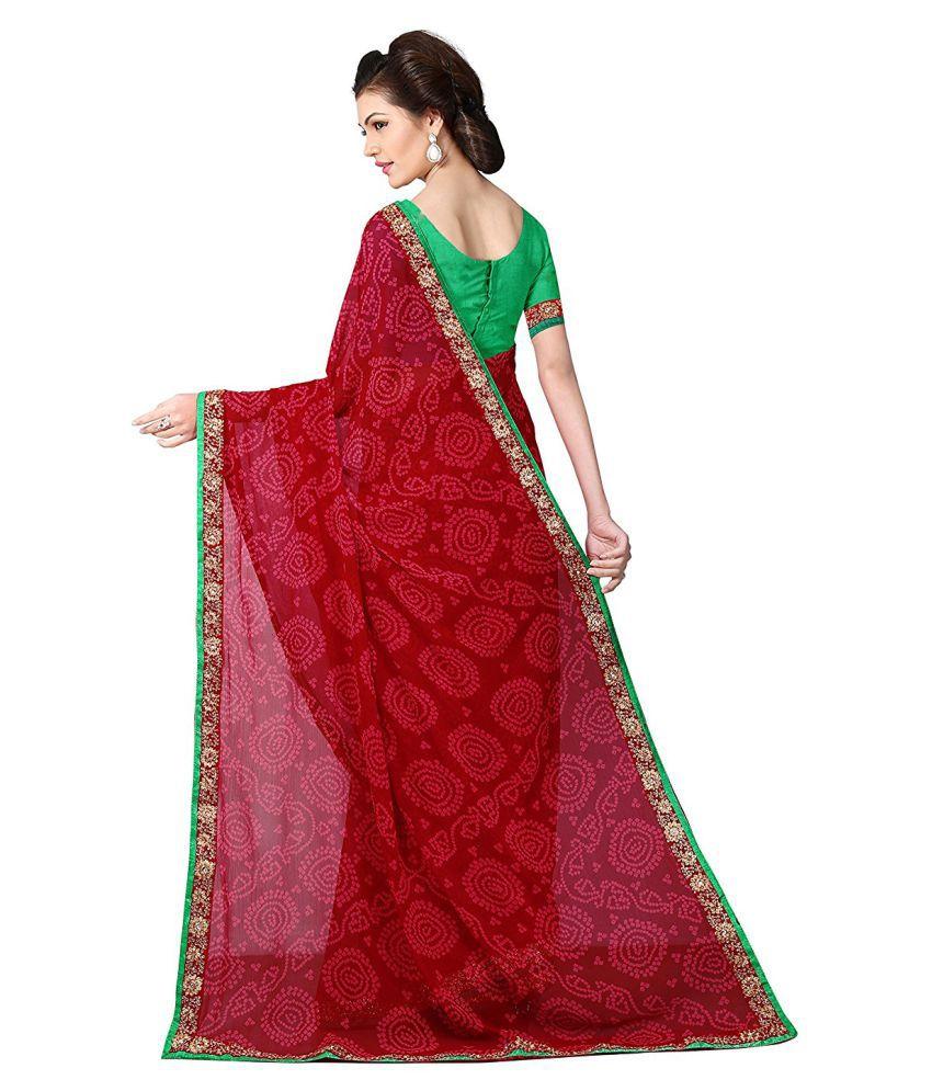 e62f948eb7e Zofey Bollywood Designer SareeS Red Georgette Saree Zofey Bollywood  Designer SareeS Red Georgette Saree