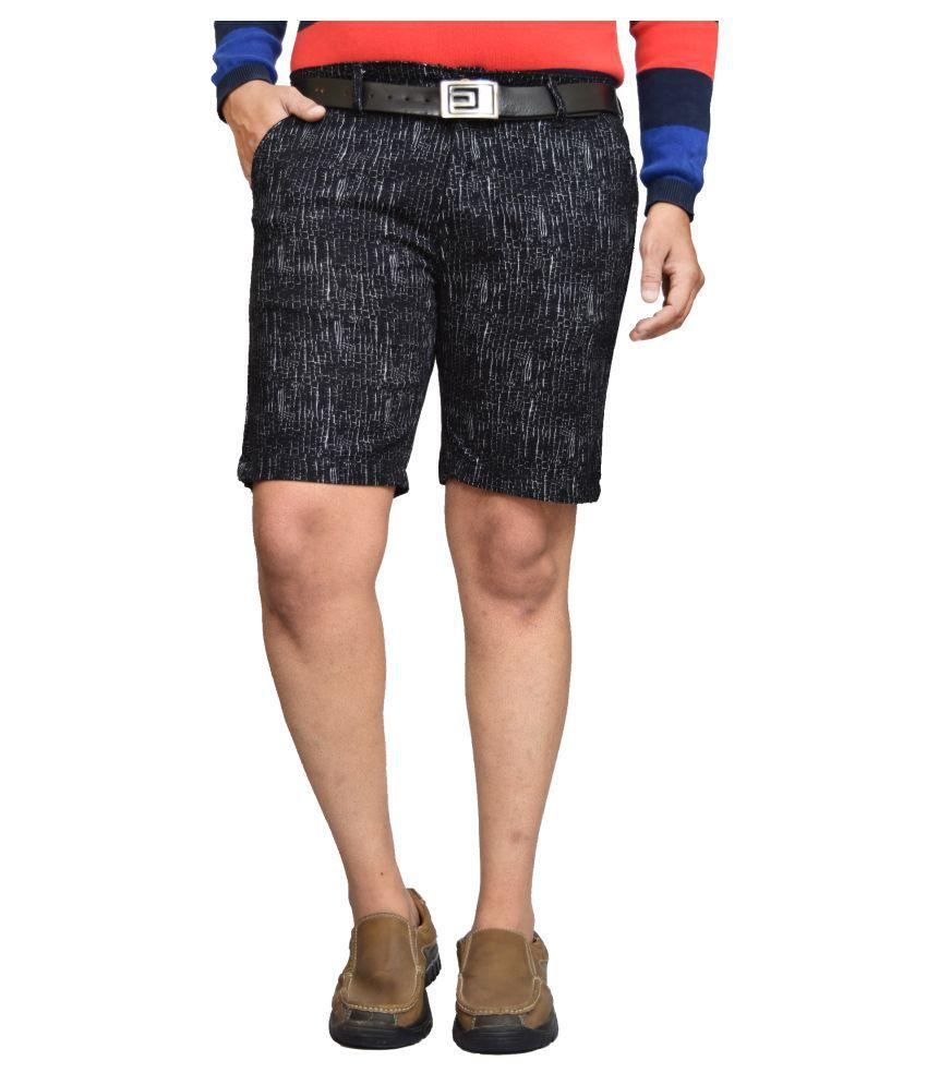 American Noti Black Shorts