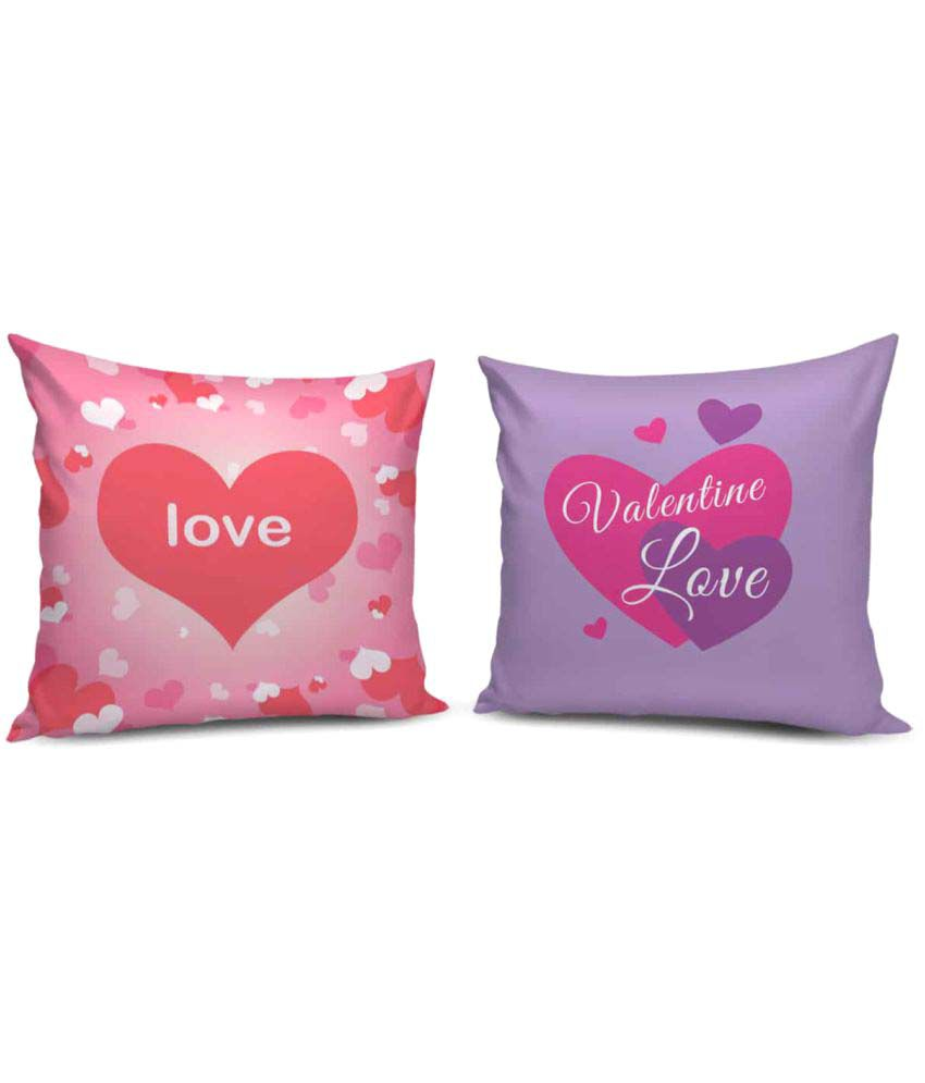Cuddlyprint Set of 2 Multi Poly Cotton Filled Cushion