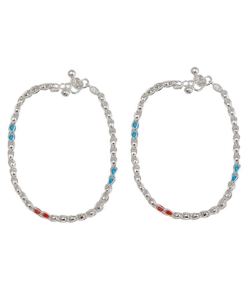 Taj Pearl Designer Silver plated Ankets