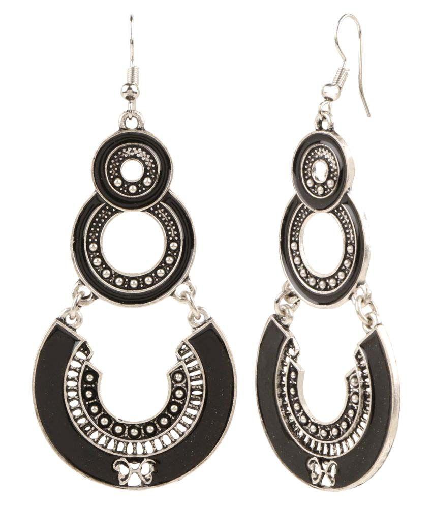 Archi Collection Trendy Oxidised Silver Plated Fancy Party Wear Stylish Dangler Earrings Jewellery for Girls & Women