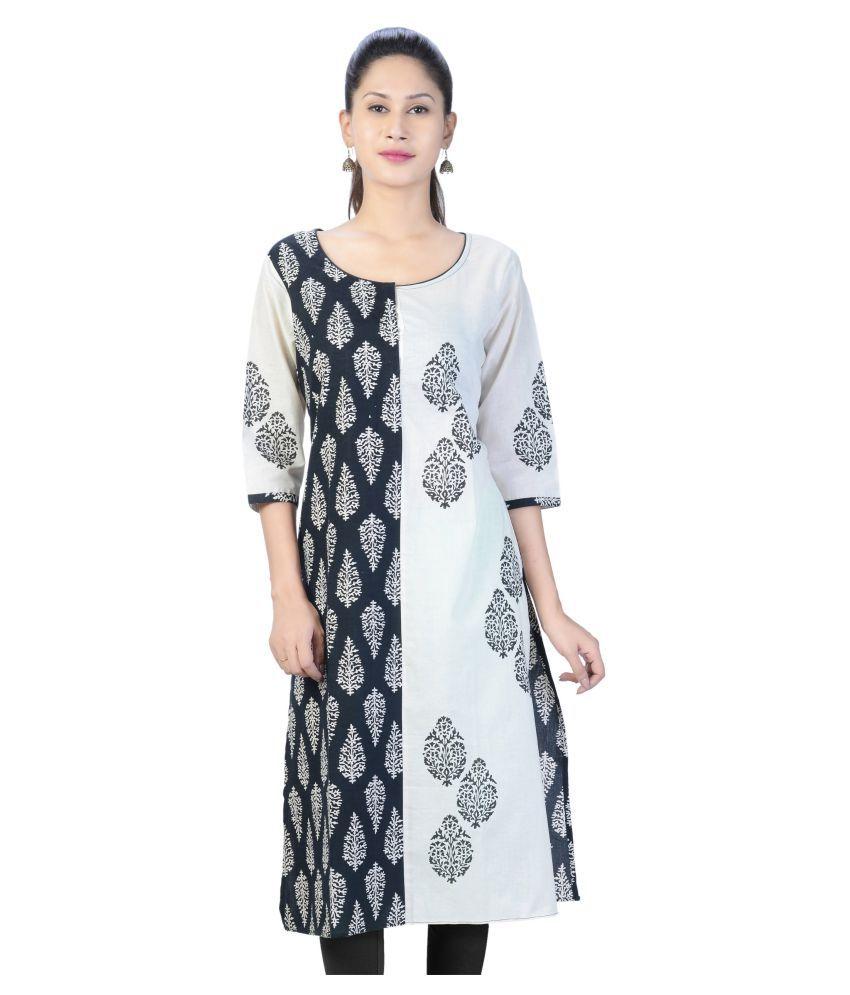 Priyaz Multicoloured Cotton Straight Kurti