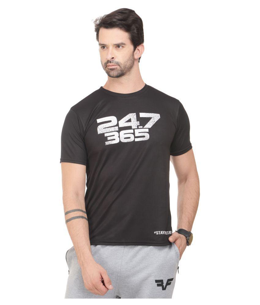RAWFITT Black Polyester T-Shirt Single Pack