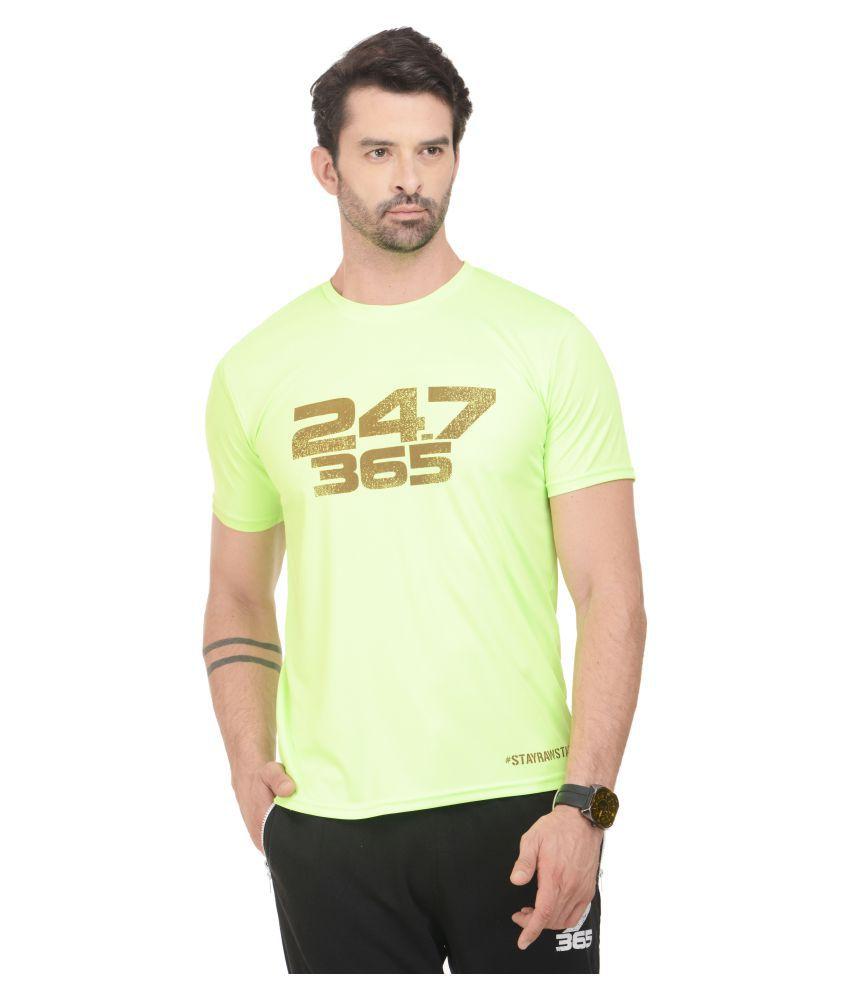 RAWFITT Green Polyester T-Shirt Single Pack